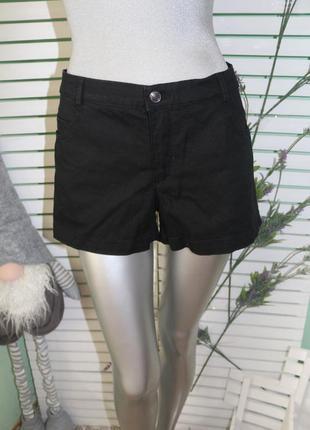 Черные джинсовые шорты h&m