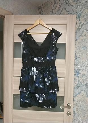 Красивое платье для пышной дамы с баской батл хлопок
