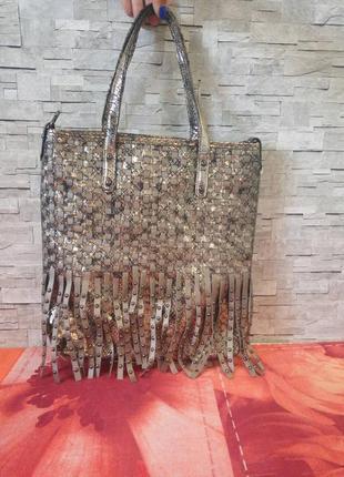 Брендовая сумочка batty,цвет золото