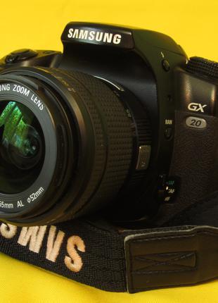 На 15 МП Зеркальный цифровой фотоаппарат Samsung GX20 с объектив.