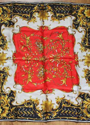 Красивейший шелковый платок стильное оформление marquis de paris
