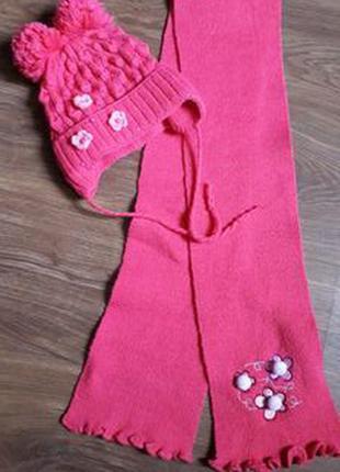 комплект шапка(холодная весна,осень) +шарф