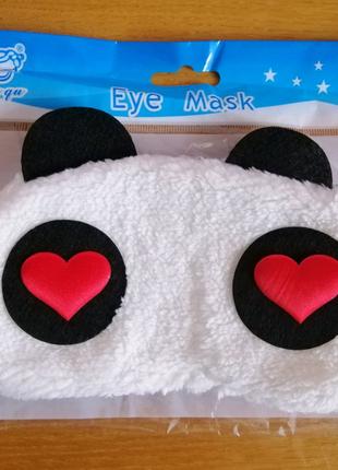 Маска для сна на глаза панда eye mask