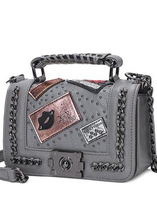 Сумка женская стильная из экокожи. модная трендовая сумочка в ...