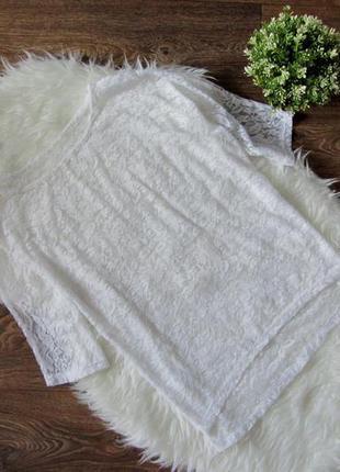 Гипюровая накидка блуза на майку или купальник