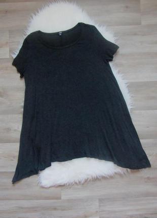 Платье-туника темносерое свободное можно для дома