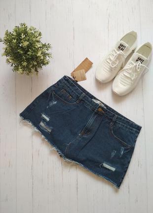 Юбка-шорти 2 в 1 нова джинсова