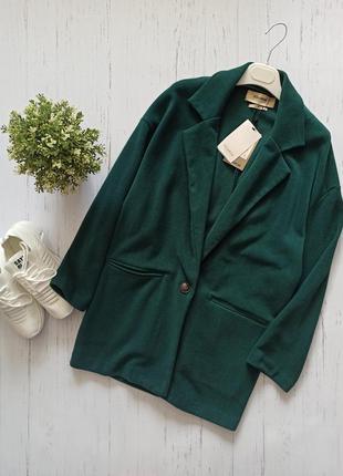 Пальто кардиган вельветовое зеленое pull&bear
