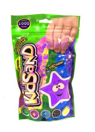 """Кинетический песок """"KidSand"""", в пакете, 1000 г (фиолетовый)"""