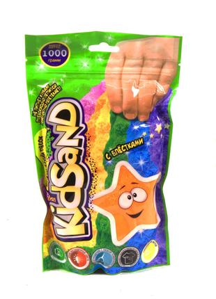 """Кинетический песок """"KidSand"""", в пакете, 1000 г (оранжевый)"""