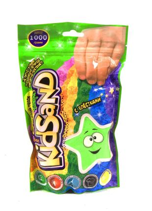 """Кинетический песок """"KidSand"""", в пакете, 1000 г (зелёный)"""