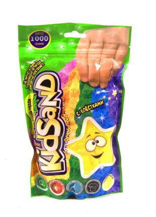 """Кинетический песок """"KidSand"""", в пакете, 1000 г (жёлтый)"""