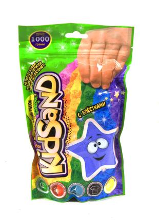"""Кинетический песок """"KidSand"""", в пакете, 1000 г (голубой)"""