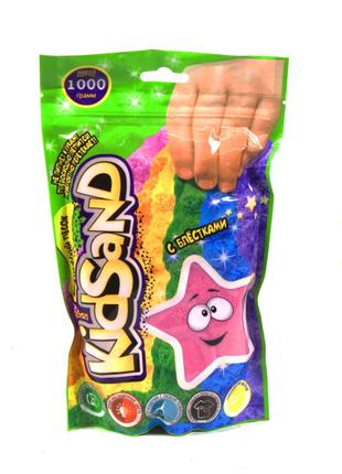 """Кинетический песок """"KidSand"""", в пакете, 1000 г (розовый)"""