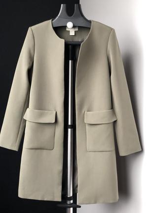 Пальто хаки casual от h&m