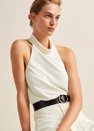 Блуза massimo dutti, белая блуза, молочная блуза