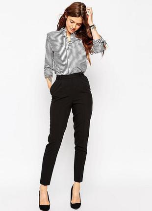 Зауженные укороченные брюки new look