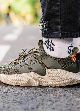 Adidas prophere green-orange мужские кроссовки весна\лето\осень