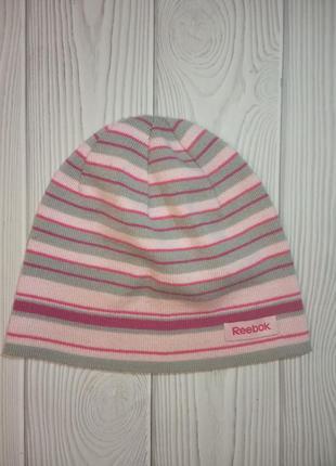 Токая шапка розовая серая рибок