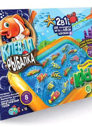 """Игра большая 2 в 1 """"Клевая рыбалка + KidSand"""""""