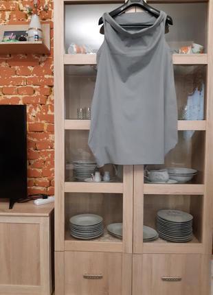 Стильное котоновое с карманами платье большого размера италия
