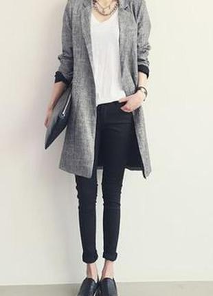 Стильный удлиненный пиджак,тренч,кардиган,the barn