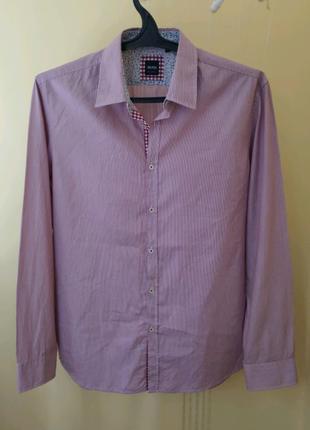 Мужская котоновая рубашка Hugo Boss