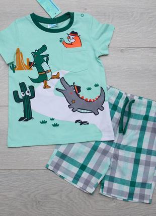 Костюм летний для мальчика футболка и шорты. pepco польша 92, 98