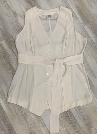 Шёлковая блуза жилетка Madeleine, 100% шелк. Размер 40, М-L.