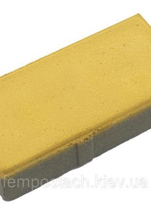 Плитка тротуарная Кирпич 40 мм желтый сахара
