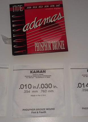 Струны Adamas 1717E Acoustic Phosphor Bronze