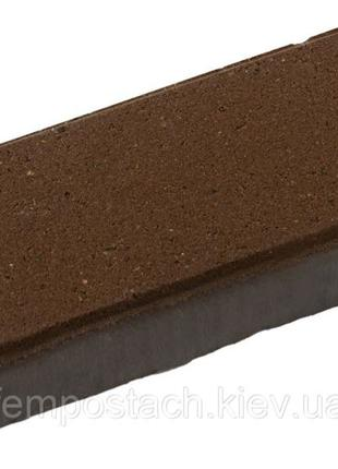Плитка тротуарная Кирпич 60 мм коричневый венге