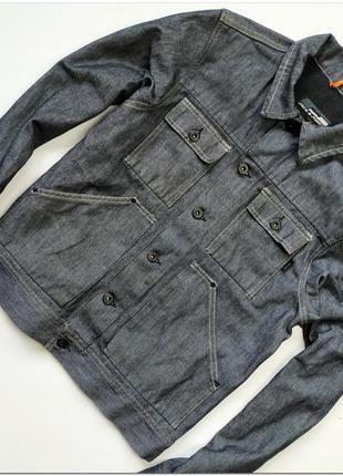 Мужская темно-серая джинсовая куртка пиджак jack & jones costa...