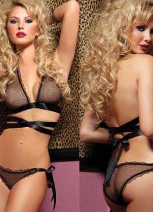 281 сексуальный комплект черного цвета – эротическое нижнее белье