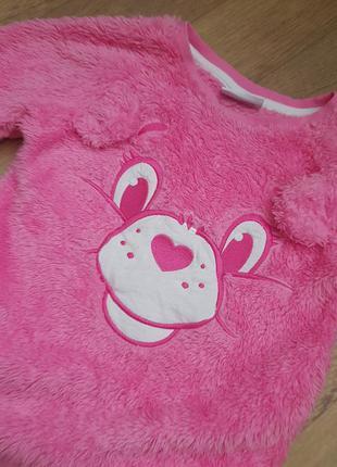 Плюшевая меховушка, теплый свитер, кофта на 4-5 лет