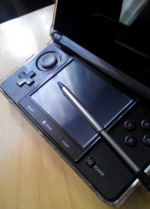 Стилус выдвижной для Nintendo 3ds old Черный Black
