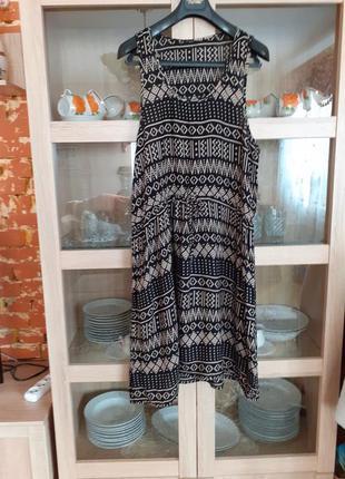Очень стильное вискозное платье большого размера индия