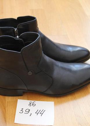 Стильные зимние ботинки. классика. кожа , натуральный мех. раз...