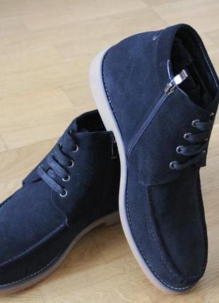 Зимние ботинки . замш. шнурок-замок. натуральный мех. размеры:...
