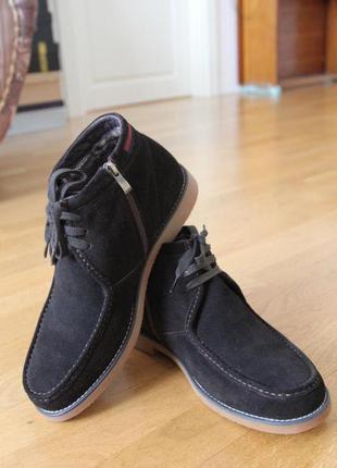 Стильные зимние ботинки. замш. натуральный мех внутрию  размер...