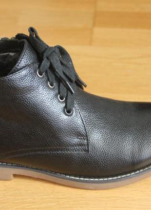 Классические зимние кожаные ботинки. размер: 39
