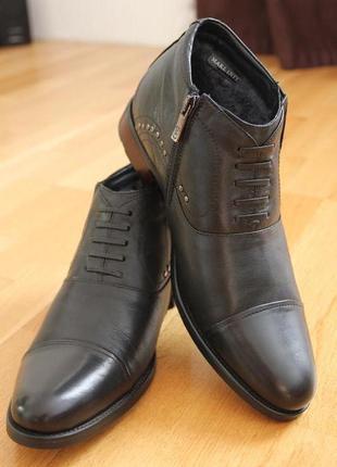 Зимние мужские ботинки!  мех, кожа .классика. размеры:40,41, 4...