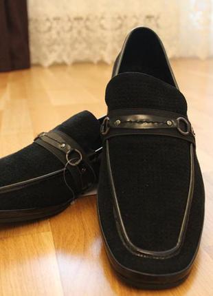Классические туфли замш летние. перфорация. турция  размеры:40...