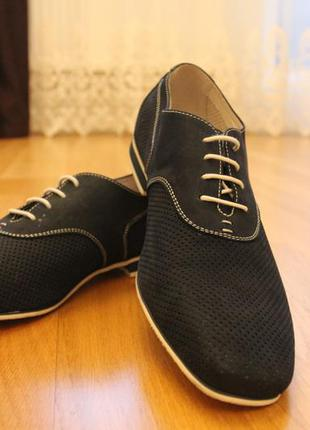 Летние туфли замш перфорация. турция размеры:40,41,44,45