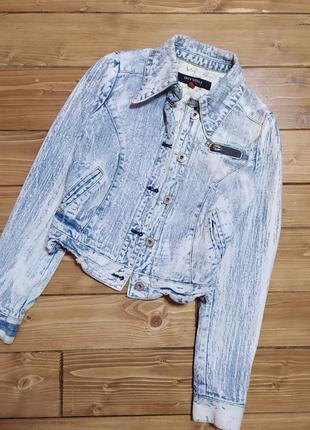 AMISU Джинсова куртка, товстий джинс, голуба