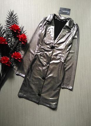 Серебряное платье prettylittlething