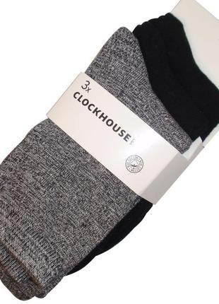 Набор носков 3 пары носки био хлопок женские бренд clockhouse ...