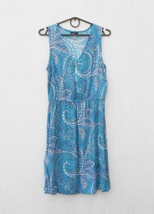 Летнее легкое платье из вискозы с орнаментом jonina 🌿