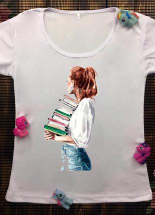 Женские футболки с принтом - девушки