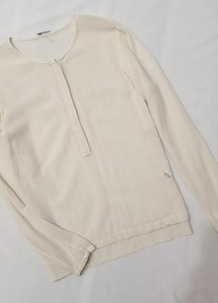 Iheart silk натуральный шелк шовк блуза блузка рубашка сорочка s